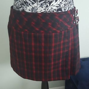 Karen Millen tartan plaid wool skirt